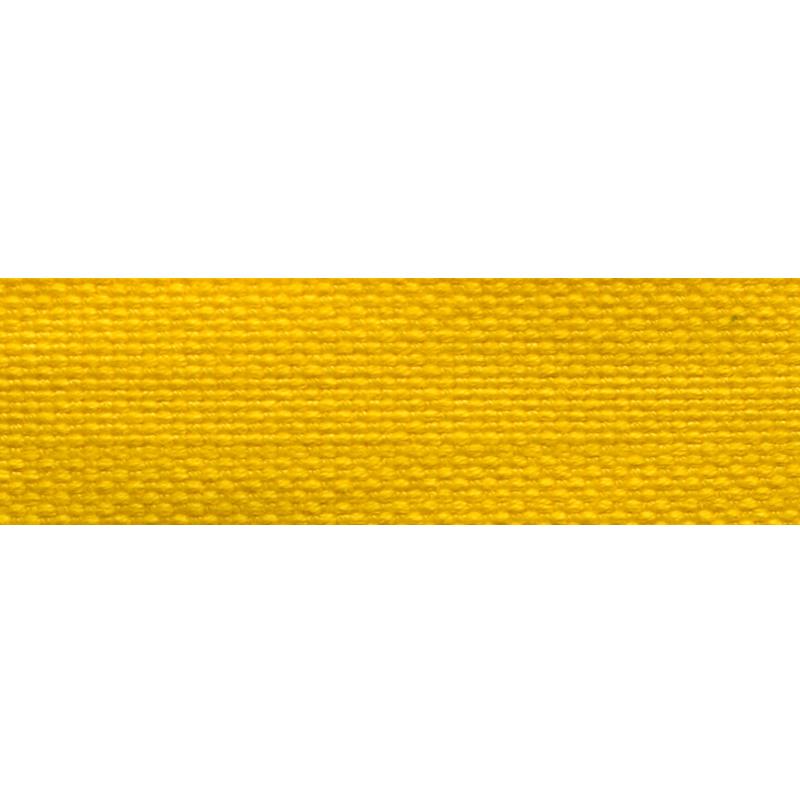 Тесьма стропа поликоттон/сутаж 2см 42-45м/рулон,цв:желтый