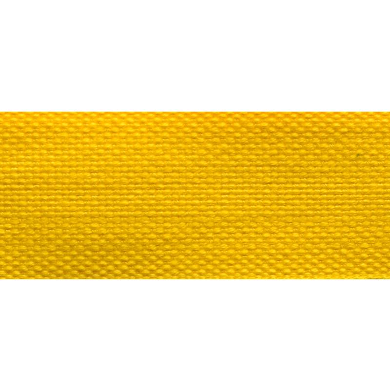 Тесьма стропа поликоттон/сутаж 3см 42-45м/рулон,цв:желтый
