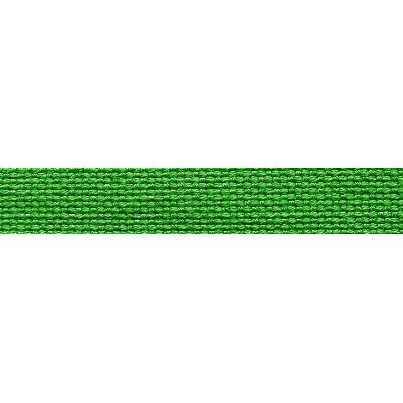 Тесьма стропа поликоттон/сутаж 1см 42-45м/рулон,цв:зеленый