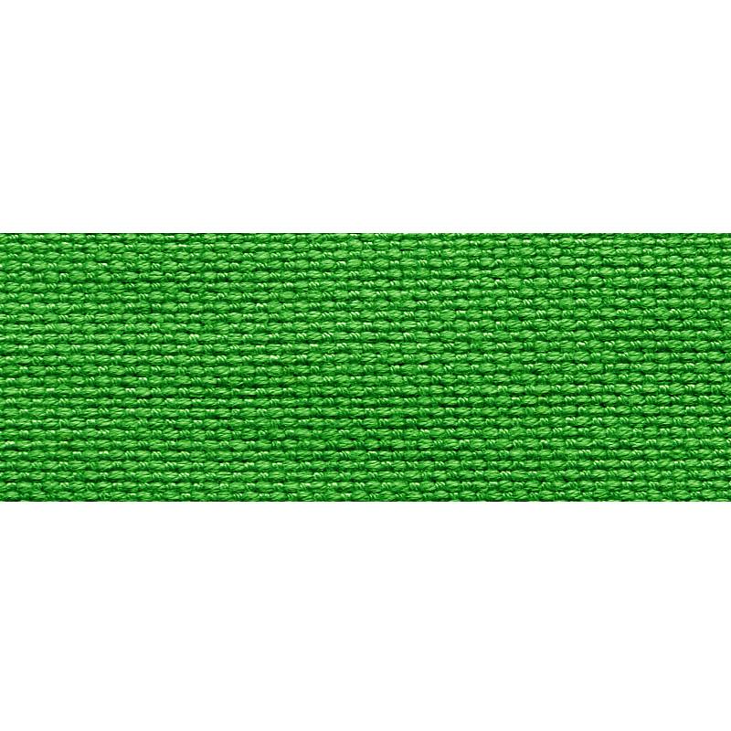 Тесьма стропа поликоттон/сутаж 2,5см 42-45м/рулон,цв:зеленый