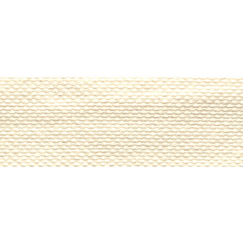 Тесьма стропа поликоттон/сутаж 2,5см 42-45м/рулон,цв:молочный