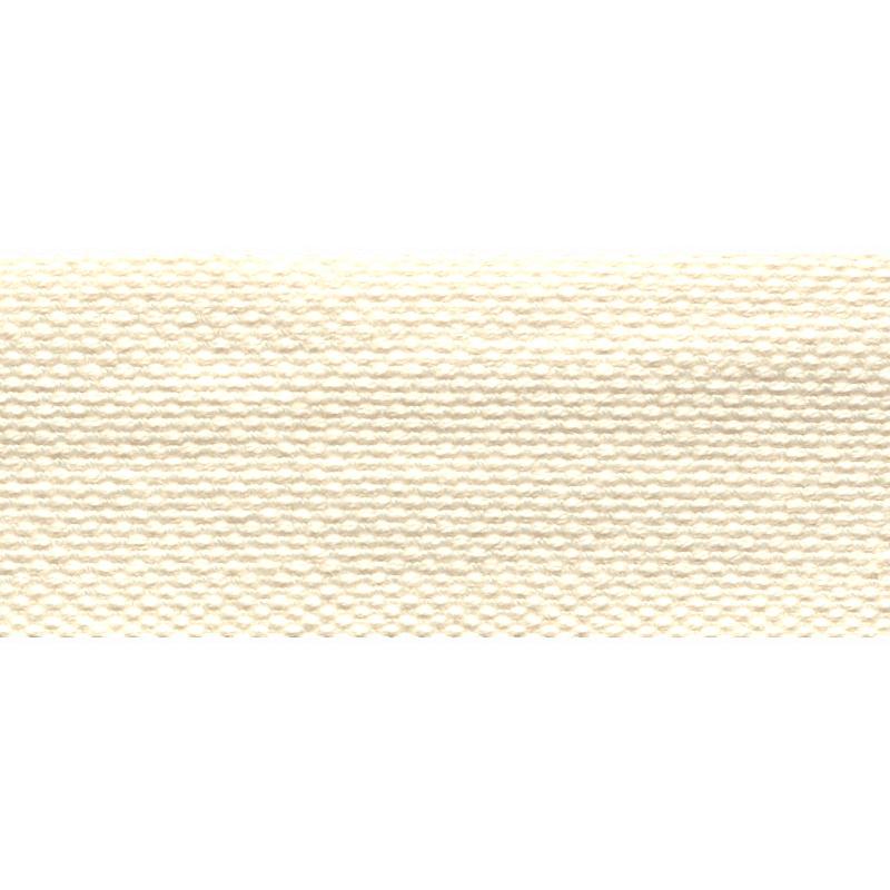 Тесьма стропа поликоттон/сутаж 3см 42-45м/рулон,цв:молочный