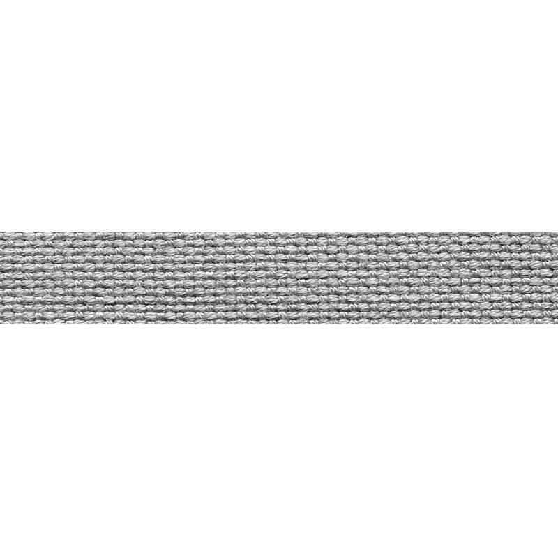 Тесьма стропа поликоттон/сутаж 1см 42-45м/рулон,цв:серый