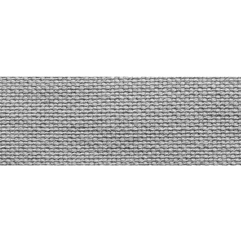 Тесьма стропа поликоттон/сутаж 2,5см 42-45м/рулон,цв:серый
