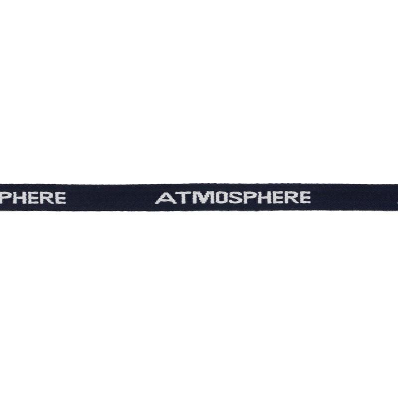 Тесьма 1см жаккард ATMOSPHERE 43-45м/рул, цв: т.синий/белый