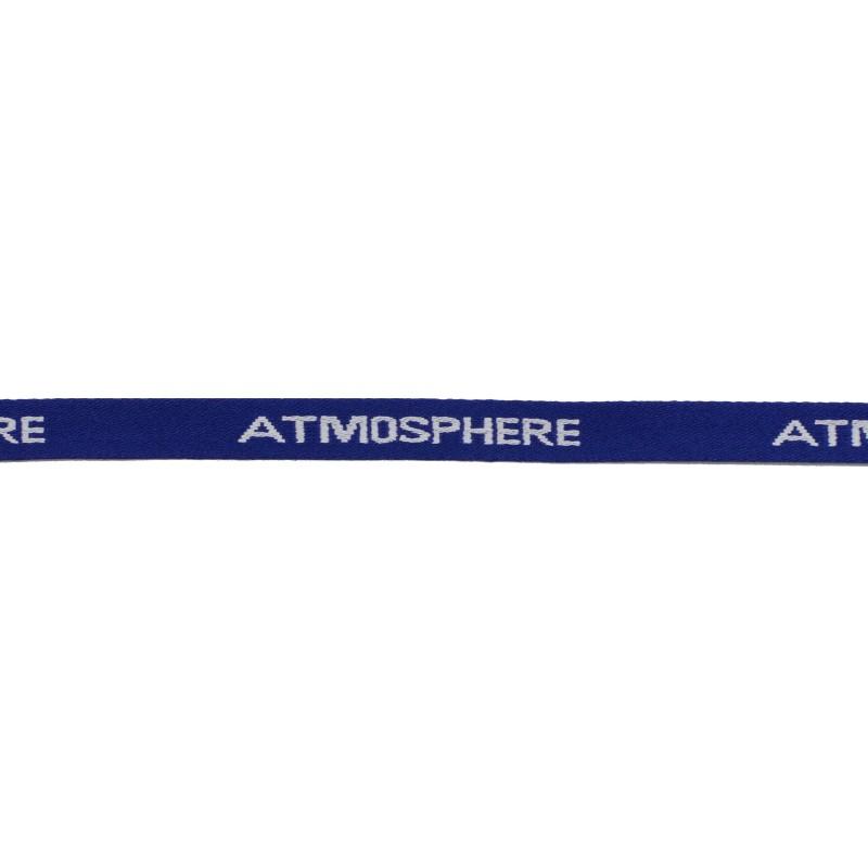 Тесьма 1см жаккард ATMOSPHERE 43-45м/рул, цв: синий/белый