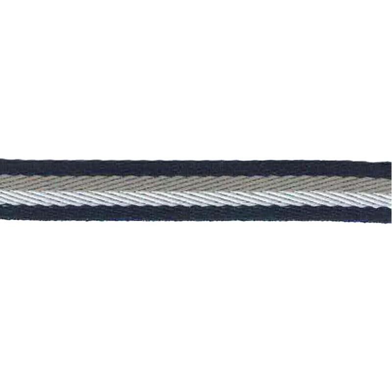 Тесьма сутаж 1см 43-45м/рулон, цв:т.синий/серый/белый