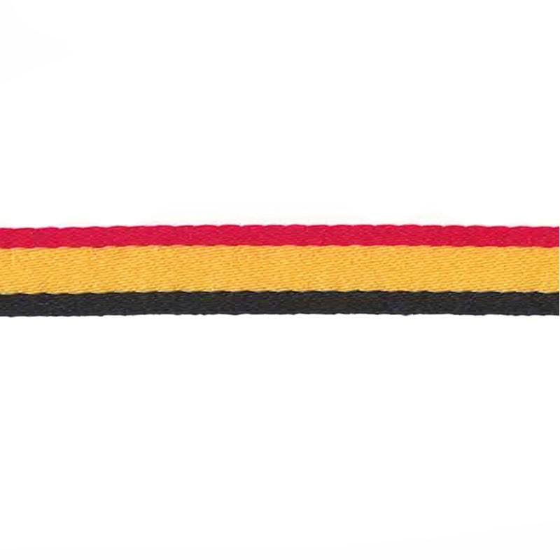 Тесьма сутаж 1см 43-45м/рулон, цв:черный/желтый/красный