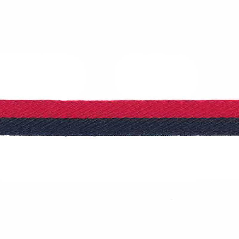Тесьма сутаж 1см 43-45м/рулон, цв:красный/т.синий
