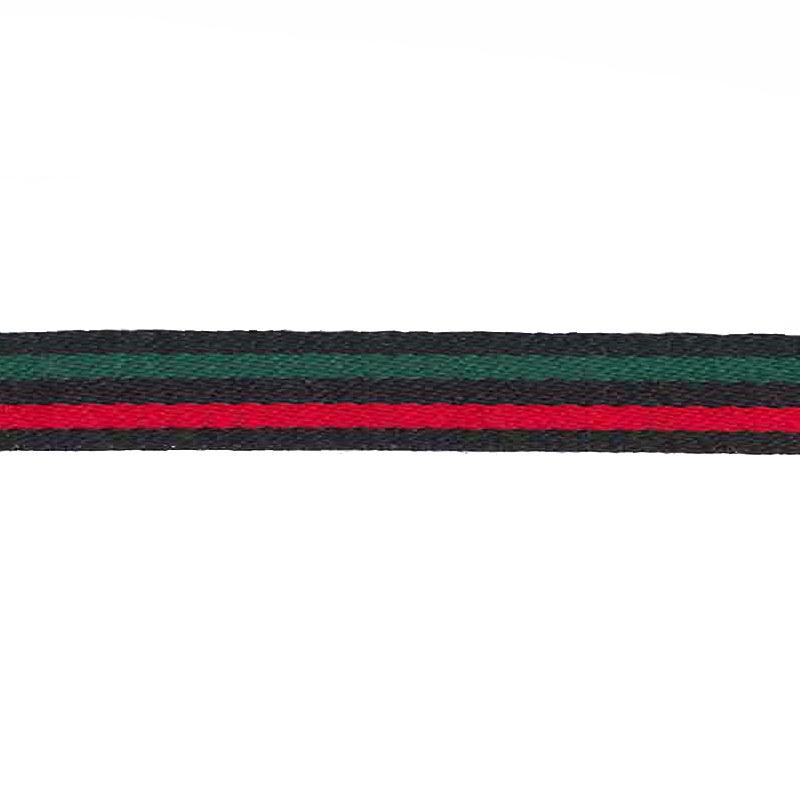 Тесьма сутаж 1см 43-45м/рулон, цв:черный/красный/зеленый