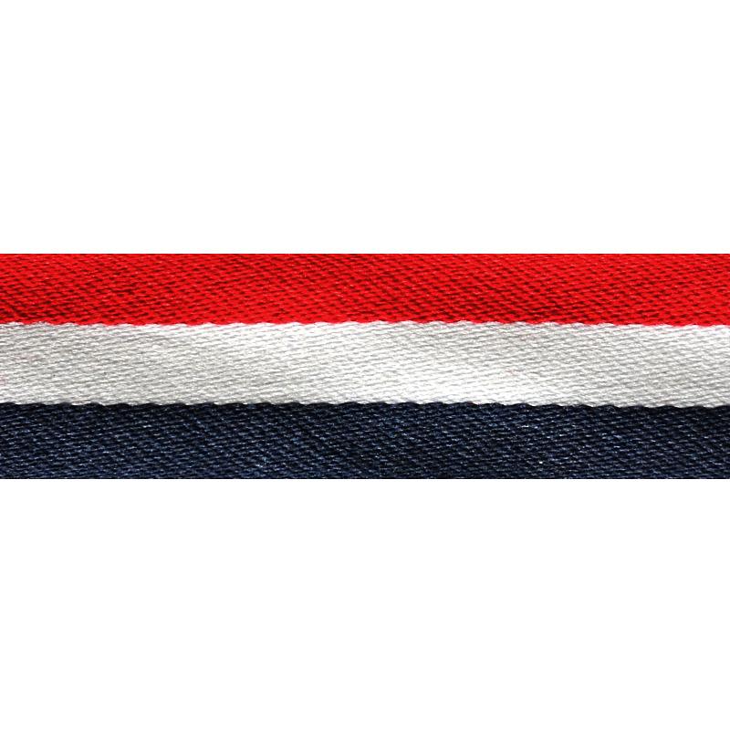 Тесьма сутаж 2см 43-45м/рулон, цв:синий/белый/красный