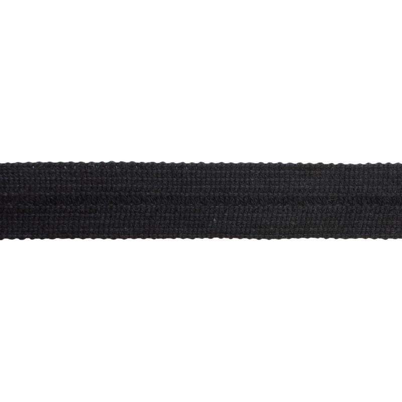 Тесьма окантовочная хлопок 2см 88-90м/рулон, цв:черный