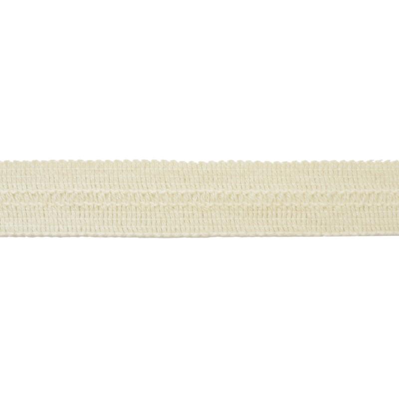 Тесьма окантовочная хлопок 2см 88-90м/рулон, цв:молочный