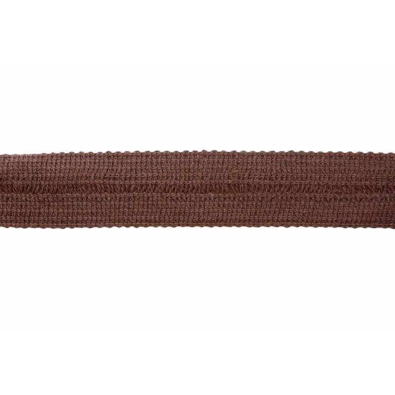 Тесьма окантовочная хлопок 2см 88-90м/рулон, цв:коричневый