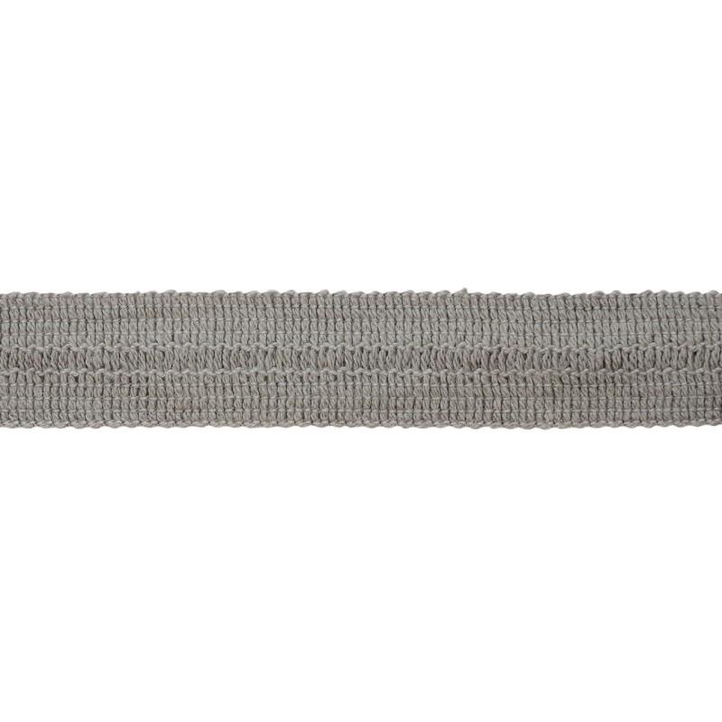 Тесьма окантовочная хлопок 2см 88-90м/рулон, цв:серый