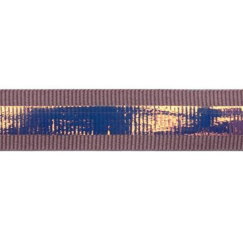Тесьма репс 2см с перламутровой вставкой 1см, цв: сиреневый