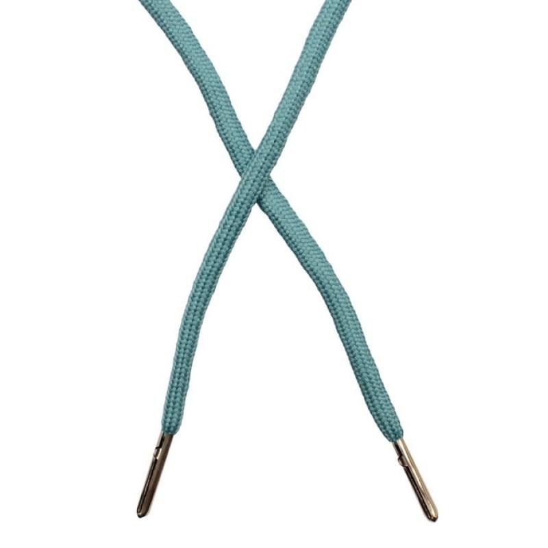 Шнур круглый полиэстер 0,5*130см с наконечником, цв: бирюзовый