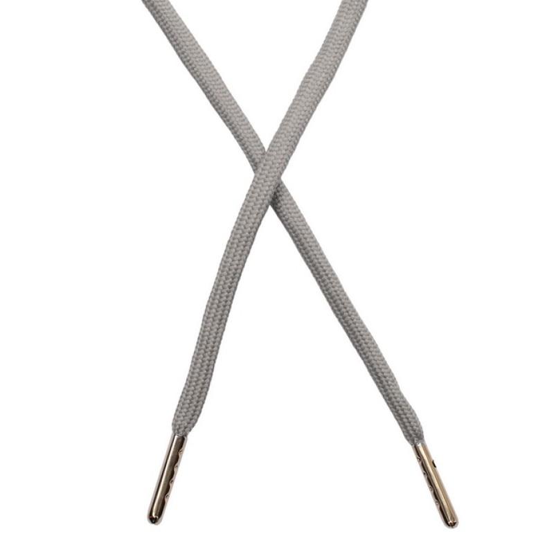 Шнур круглый полиэстер 0,5*130см с наконечником, цв: гейнсборо