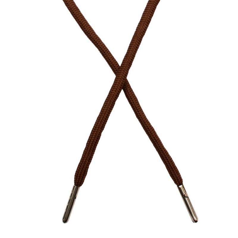 Шнур круглый полиэстер 0,5*130см с наконечником, цв: шоколад