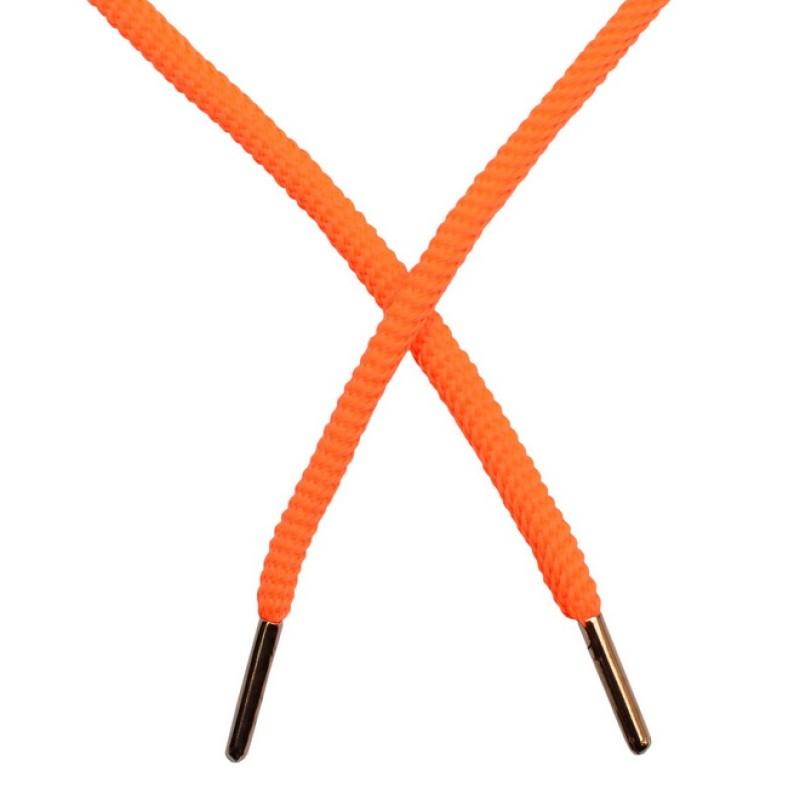Шнур круглый витой нейлон 0,5*120см с наконечником, цв: оранжевый неон