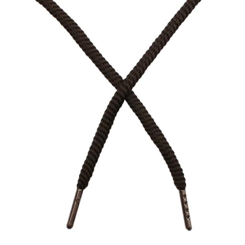 Шнур круглый витой нейлон 0,5*120см с наконечником, цв: черный