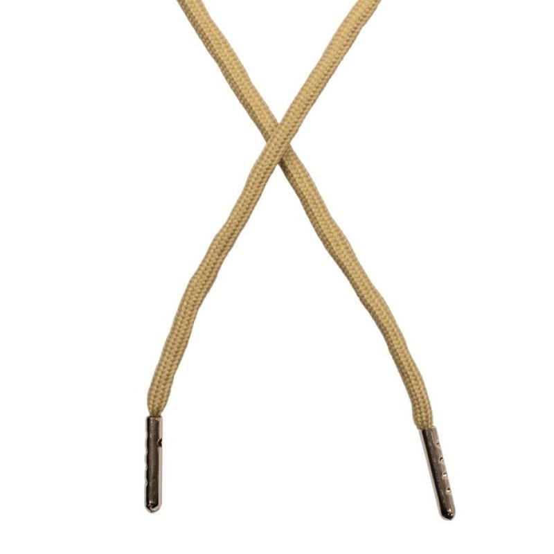 Шнур круглый полиэстер 0,5*130см с наконечником, цв: песочный