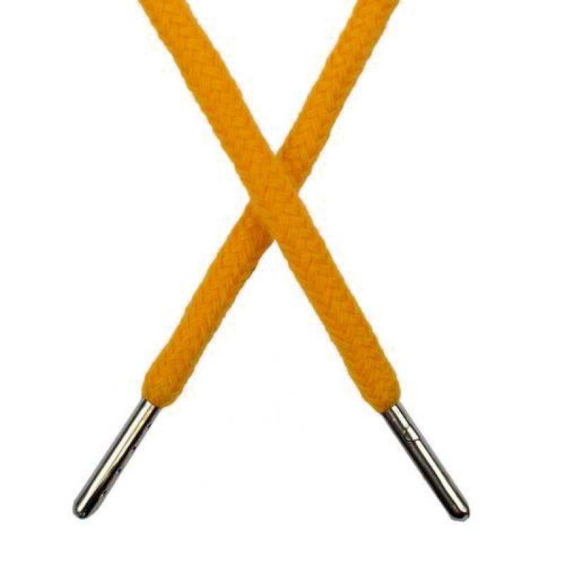 Шнур круглый хлопок 0,5*133см с наконечником, цв: апельсиновый