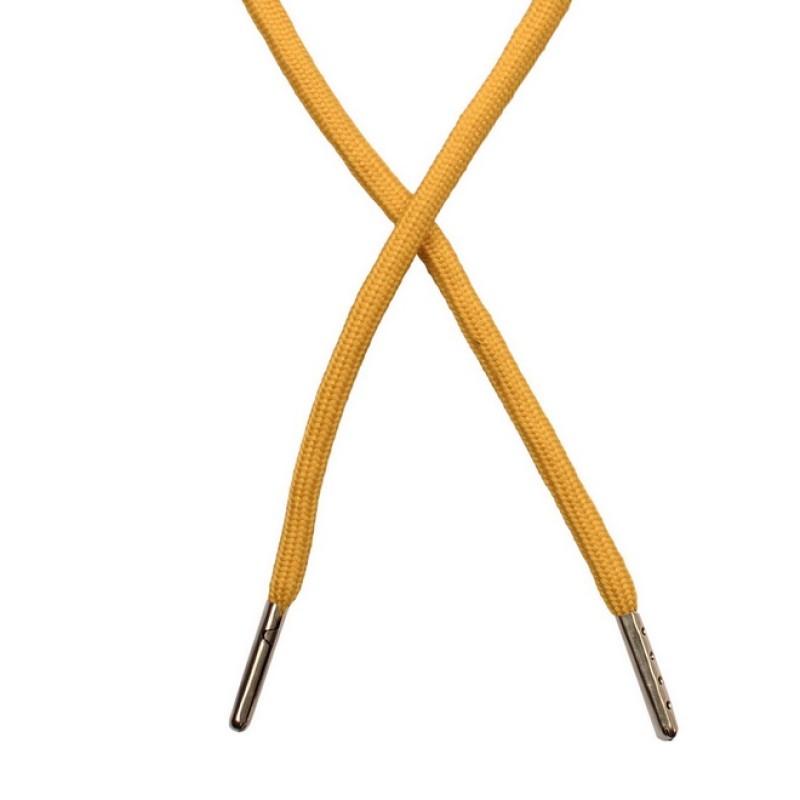 Шнур круглый полиэстер 0,5*130см с наконечником, цв: охра