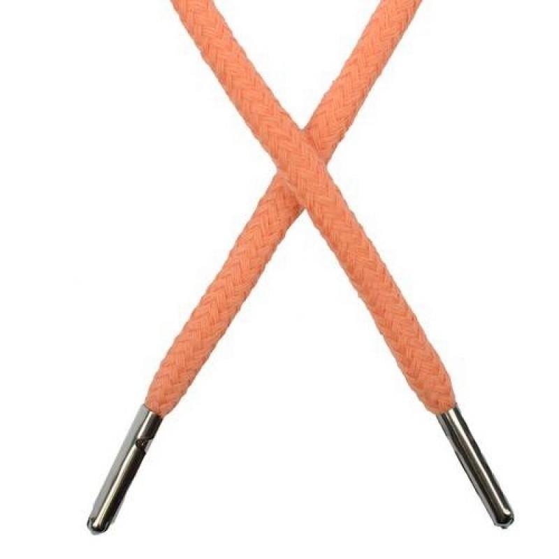 Шнур круглый хлопок 0,5*133см с наконечником, цв: лососевый