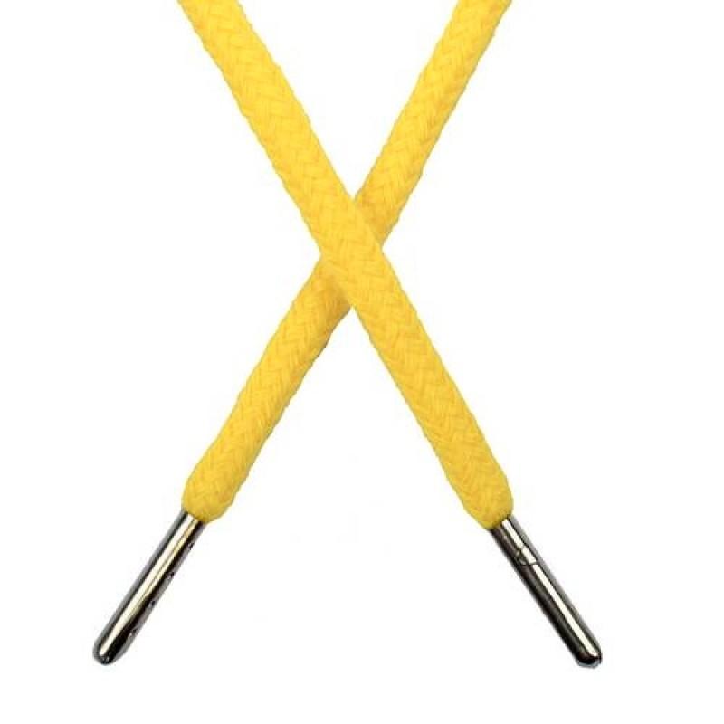 Шнур круглый хлопок 0,5*133см с наконечником, цв: кукурузный