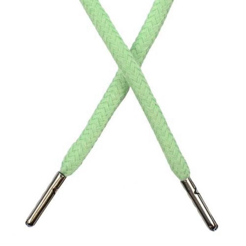 Шнур круглый хлопок 0,5*133см с наконечником, цв: светлая мята