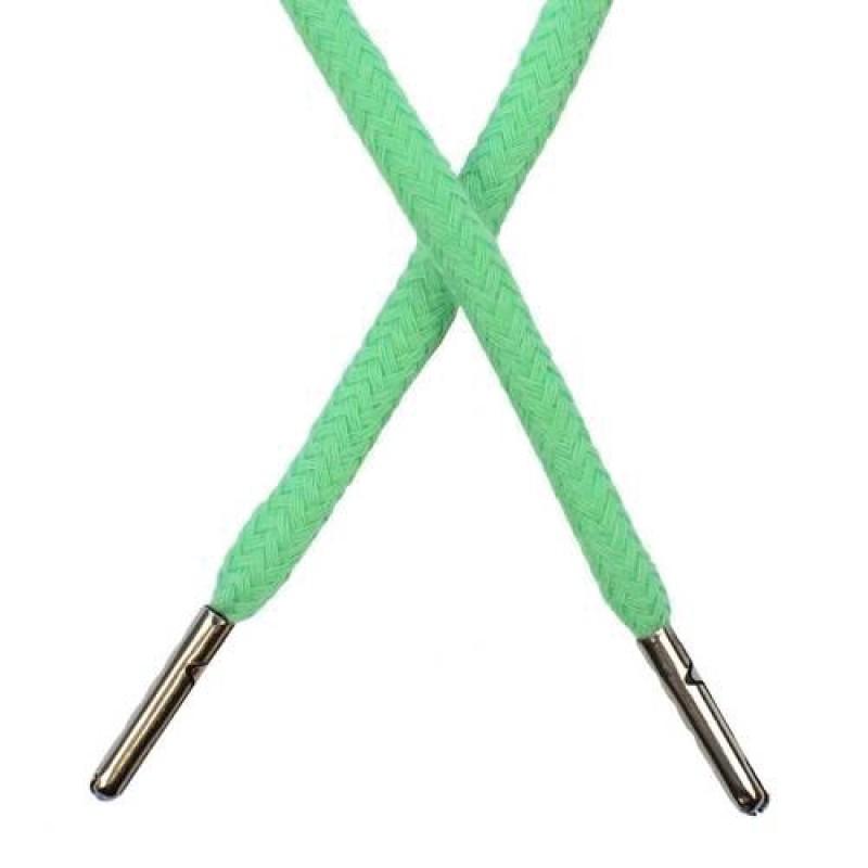 Шнур круглый хлопок 0,5*133см с наконечником, цв: зеленая мята